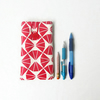 Iphone 6 plus phone cover, red handprinted fabric