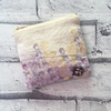 Illustrated Linen coin purse with dolls and key pattern