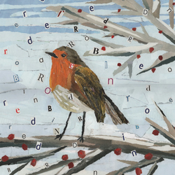 Greetings card A6 - Red Red Robin