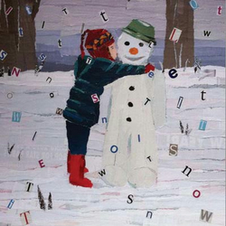 Greetings card A6 - Let it snow