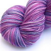 SALE: Tea and Cupcakes - Silver Sparkly Superwash merino 4-ply yarn