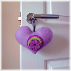 Lavender Heart Decoration