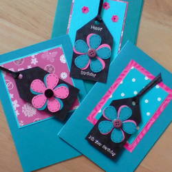 Set of 3 Rectangle Cards - Turquoise