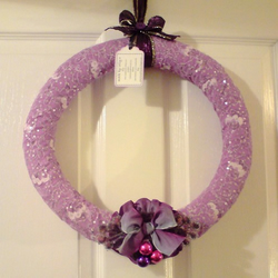 Christmas Decoration - Lilac Wreath