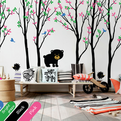 Nursery tree wall decal Large wall decoration Living room wall tattoo - KR003