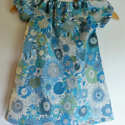 Baby dress 6-12 months. Liberty of London Susanna  tana lawn. With nappy cover.