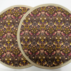 Set of 2 Aga lid covers. Liberty of London Strawberry Thief.