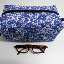 Large Liberty of London. Make-up, toiletries, cosmetics bag . Box shaped.