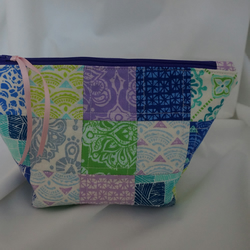 Patchwork Toilet Bag, Wash Bag, Cosmetic Bag, Zipper Pouch, Moda Horizon