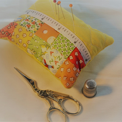 Patchwork Pin Cushion, Quilted, Pincushion