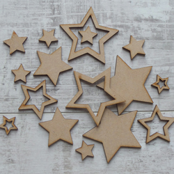 Laser Cut Star Embellishments