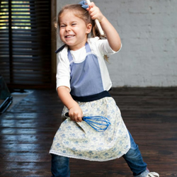 Kids Apron 7-9 years, Toddler Aprons, Floral Childrens Apron, Girls Apron