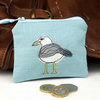 Purse Coin Cosmetic Camera Accessory Seagull Nature Bird Seabird Coastal
