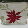 Red flower toiletry bag