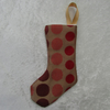 Small gold circle pattern Christmas stocking tree decoration