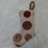 Small circle print Christmas stocking tree decoration