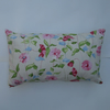 Shabby chic rectangular pastel floral print cushion