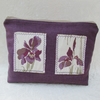Purple Irises toiletry bag