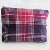 Pink and purple tartan tweed toiletry bag