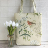 Chaffinch in meadow tote bag