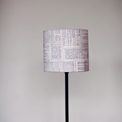 30cm Dictionary lampshade, black white lamp, fabric lampshade,