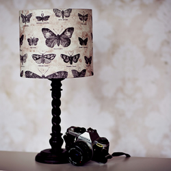 Butterfly lampshade, black butterfly, lampshade, ceiling lampshade, fabric lamp