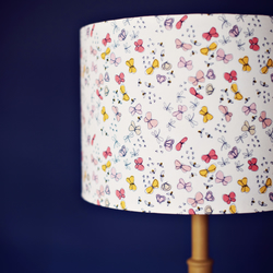 Pink butterfly lamp, pink lampshade, pink lamp shade, butterfly lampshade, lamps