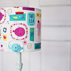 Maritime lampshade, lampshade, childrens lampshade, kids lampshade, nursery lamp