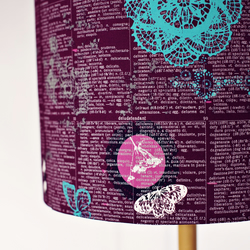 20cm Purple lampshade, lampshade, lamp shade, drum lampshade
