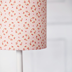 25 cm pink wreath lampshade, pink and grey lampshade