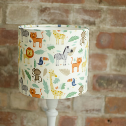 30cm Jungle animals lampshade, Jungle nursery decor
