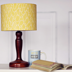 Yellow retro mid century lampshade 20cm