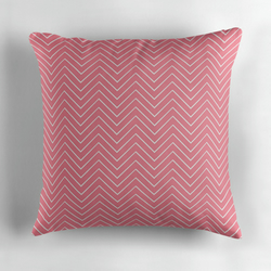 Pink Chevrons Cushion Cover 16 inch