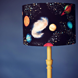 30cm Black Planets Space Lampshade for bedroom or nursery