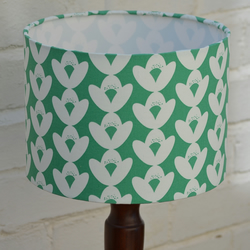 20cm Green and White Floral Lamp shade