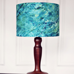30cm Blue Marbled lamp shade