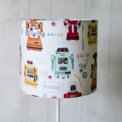 30cm robot lampshade kids bedroom lamp shade folksy 30cm robot lampshade kids bedroom lamp shade nursery lamp aloadofball Image collections