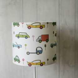 30cm Cars lampshade, car nursery decor