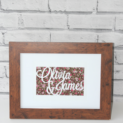Personalised papercut names - perfect for a wedding gift for the happy couple!