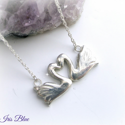 Swans Heart Necklace