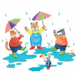 A3 Illustration Print - Rainy day!