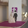 Bride and Groom Pop Up Card