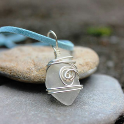 Silver Cornish Sea Glass Necklace