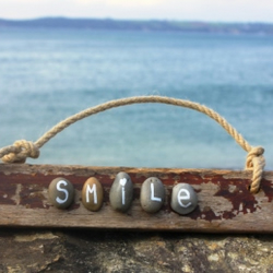 'Smile' Driftwood Sign