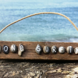 'Gone Surfing' Driftwood SIgn