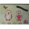 Pair of Sleepy Owls (HB184)