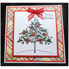 Poinsettia Tree on Tartan (X559)