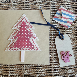 Layered Christmas Tree with Tag and Mini Envelope
