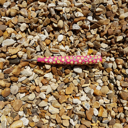 PINK WITH YELLOW MULTI FLOWERS TAIL CATCHER for sewing,embroidery,etc.