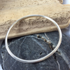 Solid round silver bangle, 3mm thick - made to order